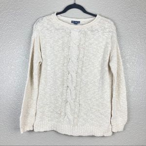 American Living Chunky Knit Sweater Sz S